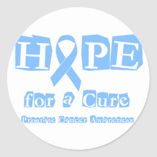 Hope for a Cure - Prostate Cancer Classic Round Sticker