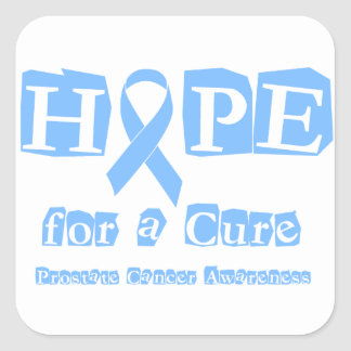 Hope for a Cure - Prostate Cancer Square Sticker