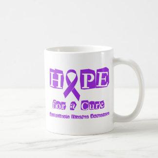 Hope for a Cure Purple Ribbon Alzheimers Disease Coffee Mug