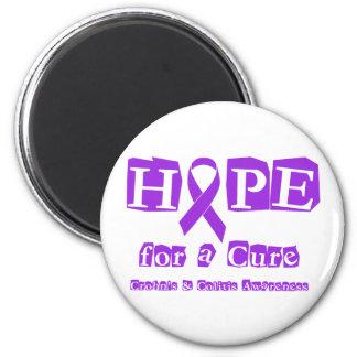 Hope for a Cure - Purple Ribbon Fridge Magnets