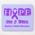 Hope for a Cure - Purple Ribbon Mouse Pad