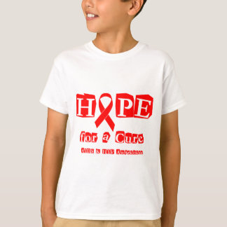 Hope for a Cure - Red Ribbon AIDS & HIV T-Shirt