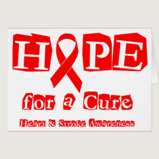 Hope for a Cure - Red Ribbon Card