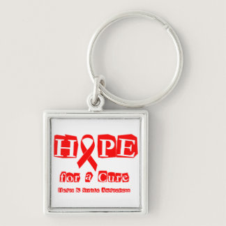 Hope for a Cure - Red Ribbon Keychain