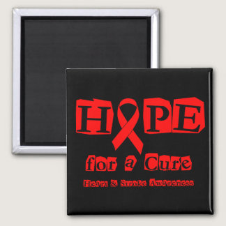 Hope for a Cure - Red Ribbon Magnet