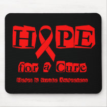 Hope for a Cure - Red Ribbon Mouse Pad
