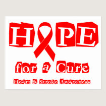 Hope for a Cure - Red Ribbon Postcard