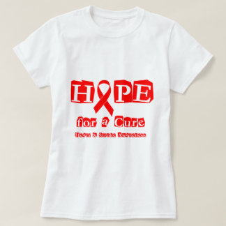 Hope for a Cure - Red Ribbon T-Shirt