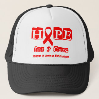 Hope for a Cure - Red Ribbon Trucker Hat