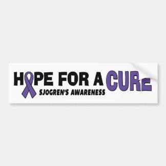 Hope For A Cure...Sjogren's Bumper Sticker