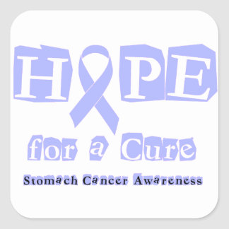 Hope for a Cure - Stomach Cancer Square Sticker