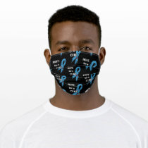 Hope for a Cure/Torn Ribbon...Diabetes Adult Cloth Face Mask