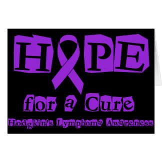 Hope for a Cure - Violet Ribbon Card