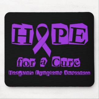 Hope for a Cure - Violet Ribbon Mouse Pad