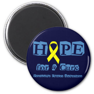 Hope for a Cure - Yellow Ribbon 2 Inch Round Magnet