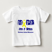 Hope for a Cure - Yellow Ribbon Baby T-Shirt