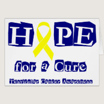 Hope for a Cure - Yellow Ribbon Card