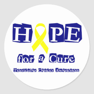 Hope for a Cure - Yellow Ribbon Classic Round Sticker