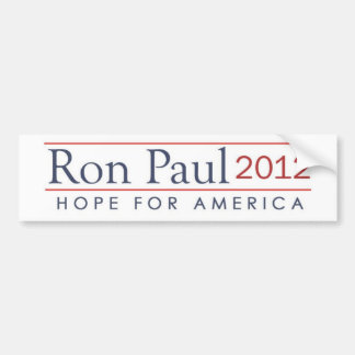 hope for America Ron Paul 2012 Bumper Sticker