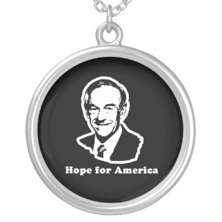 HOPE FOR AMERICA ROUND PENDANT NECKLACE