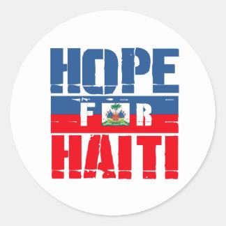 Hope for Haiti Classic Round Sticker