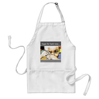 hope for haiti now adult apron