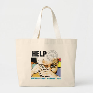 hope for haiti now large tote bag