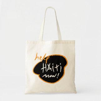 hope for haiti now tote bags