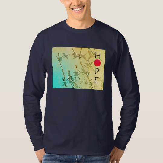 Hope for Japan Blossoms & Geese Shirt