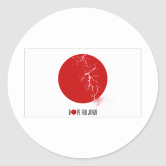 HOPE FOR JAPAN - EARTHQUAKE CLASSIC ROUND STICKER