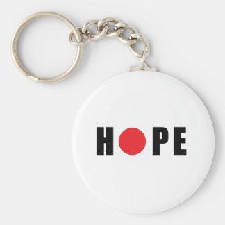Hope for Japan - Earthquake & Tsunami Victims Basic Round Button Keychain