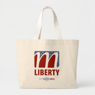 Hope for Liberty Mitt Romney 2012 Large Tote Bag