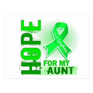 Hope For My Aunt Lymphoma Postcard