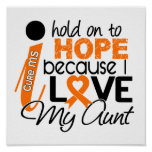 Hope For My Aunt Multiple Sclerosis MS Poster