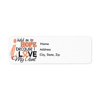 Hope For My Aunt Uterine Cancer Label