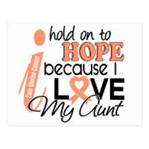 Hope For My Aunt Uterine Cancer Postcard
