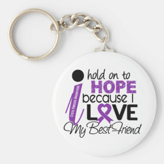 Hope For My Best Friend Cystic Fibrosis Keychain