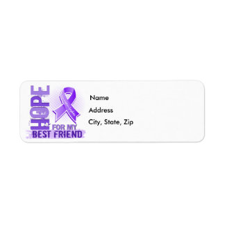 Hope For My Best Friend Hodgkins Lymphoma Label
