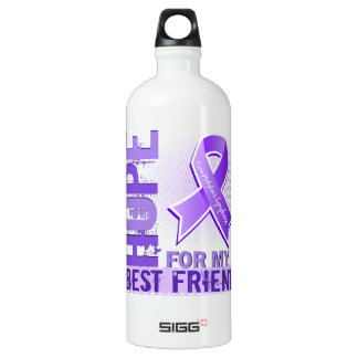 Hope For My Best Friend Hodgkins Lymphoma Water Bottle