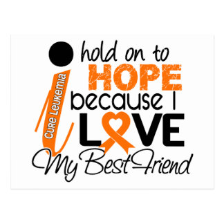 Hope For My Best Friend Leukemia Postcard