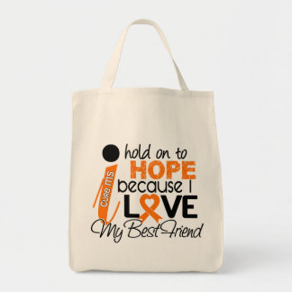 Hope For My Best Friend Multiple Sclerosis MS Tote Bags