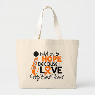 Hope For My Best Friend Multiple Sclerosis MS Canvas Bag