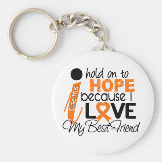 Hope For My Best Friend Multiple Sclerosis MS Basic Round Button Keychain