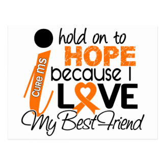 Hope For My Best Friend Multiple Sclerosis MS Postcard