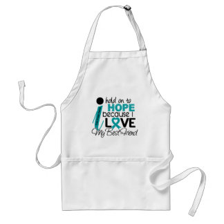 Hope For My Best Friend Ovarian Cancer Adult Apron
