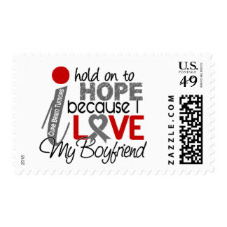 Hope For My Boyfriend Brain Tumor Postage Stamps