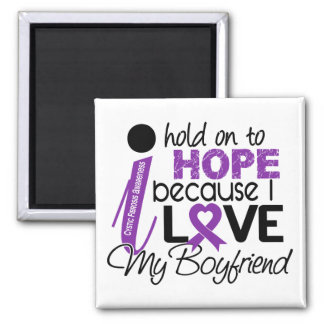 Hope For My Boyfriend Cystic Fibrosis 2 Inch Square Magnet