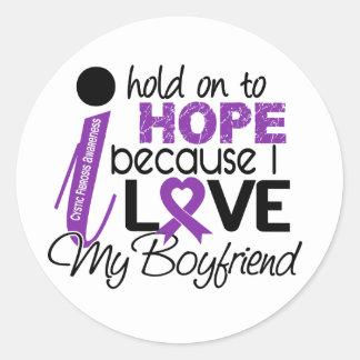 Hope For My Boyfriend Cystic Fibrosis Classic Round Sticker