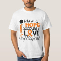 Hope For My Boyfriend Leukemia T-Shirt