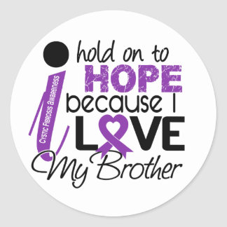 Hope For My Brother Cystic Fibrosis Round Stickers